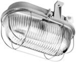 Oprawa OVAL 100W E27popielaty klosz przezroczysty