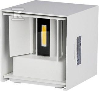 Kinkiet LED VT-759 6W 660lm 4000K IP65 biały kwadratowy