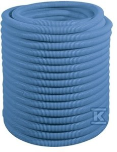Rura osłonowa karbowana (peszel) - 25-26 niebieska /50m/