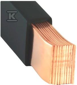 Szyna miedziana MOFLEX 15.5x0.8x10, 124mm2, In=601A, 2m  MMC0161001