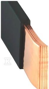 Szyna miedziana MOFLEX 24x1x5, 120mm2, In=628A, 2m  MMC0240501