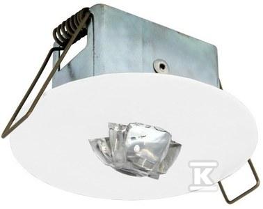 Oprawa EYE LED okrągła LED 1W 130lm (optyka korytarzowa) 1h dwuzadaniowa biała Nr.kat.: EYC/1W/C/1/SA/X/WH