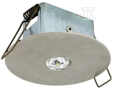 Oprawa EYE LED okrągła LED 3W 320lm (optyka otwarta) 1h dwuzadaniowa stal nierdzewna Nr.kat.: EYO/3W/C/1/SA/X/ST