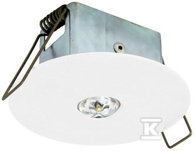 Oprawa EYE LED okrągła LED 3W 320lm (optyka otwarta) 1h jednozadaniowa biała Nr.kat.: EYO/3W/C/1/SE/X/WH