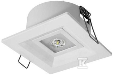 Oprawa LOVATO P LED 1W (optyka otwarta) 1h dwuzadaniowa biała Nr.kat.: LVPO/1W/C/1/SA/X/WH