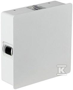 Kinkiet LED VT-704 4W 440lm 3000K IP65 biały kwadratowy
