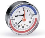 """Termomanometr F+R 818 R80/120stopni C, 0-4 bar z przyłączem tylnym1/2"""""""