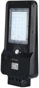 Oprawa drogowa solarna 15W 1600lm 6000K Li 7.4V 10.800mAh IP65 z czujnikiem ruchu VT-ST15