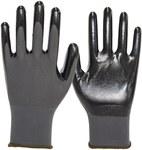 Rękawice nylonowe/nitrylowe, rozmiar 9, czarne. Zapobiega przenikaniu oleju przez rękawicę