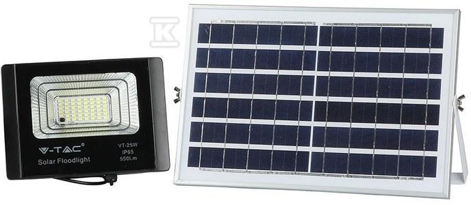 Naświetlacz LED z panelem solarnym 12W 550lm 4000K 7200mAh IP65 VT-25W