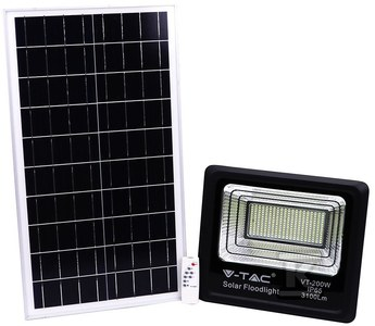Naświetlacz LED z panelem solarnym 40W 3100lm 4000K 20.000aAh VT-200W