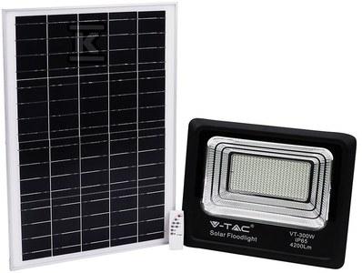 Naświetlacz LED z panelem solarnym 50W 4200lm 4000K 25.000mAh IP65 VT-300W