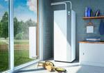 Powietrzna pompa ciepła EXCELIA AI Tri DUO 11 kW z podgrzewaczem c.w.u. 190l, z możliwością sterowania przy użyciu aplikacji COZYTOUCH