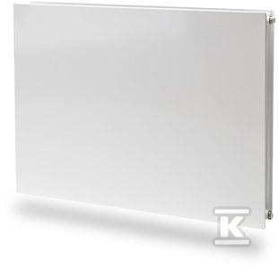Grzejnik stalowy płytowy higieniczny Plan, z gładką płytą czołową, podłączenie boczne, bez osłon i grilla Hygiene PURMO FH10 500x1800 909W RAL 9016
