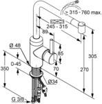 L-INE Jednouchwytowa bateria zlew DN 10 - 428210577