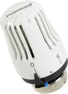 Głowica termostatyczna Purmo M30x1,5 7-28 st.C, RAL9003
