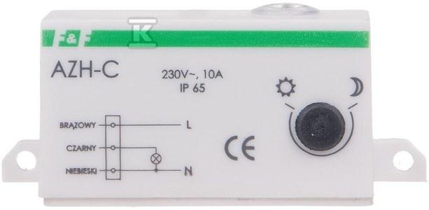Automat zmierzchowy AZH-C I=10A, obudowa hermetyczna, przewód przyłączeniowy 0,5m