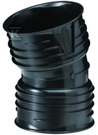 Kolano X-Stream PP DN150x150/15 czarne
