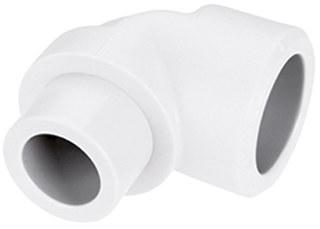 Kolano PP nyplowe 32x32/90 PN25 Bor Plus biały