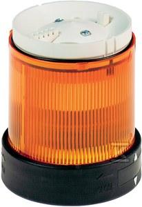 Element świetlny Ø70 pomarańczowy światło ciągłe LED 24V AC/DC