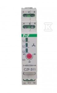 Mikroprocesorowy czujnik zaniku i asymetrii fazy CZF-311-TRMS