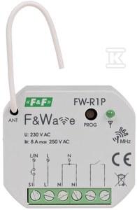 Radiowy pojedyńczy przekaźnik bistabilny - montaż PDT 85÷265V AC/DC