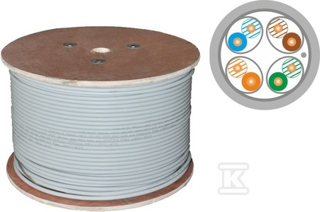 Kable F/FTP kat.6A LSOH 4x2x23AWG B2ca 500m (10Gb/s) 25 lat gwarancji, badanie jakości laboratorium INTERTEK (USA)