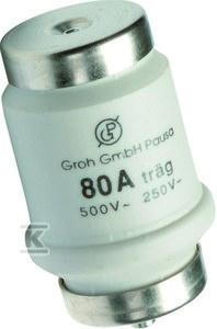 Wkładka bezpiecznikowa D, wykonanie DIVH-DVH gG 34x56mm DTIV 80A 500VAC