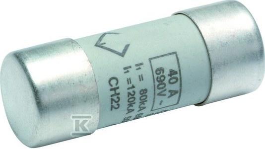 Wkładka bezpiecznikowa cylindryczna CH-22 22x58mm aM 50A 500VAC
