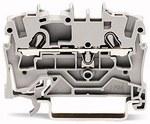 Złączka 2-przewodowa przelotowa 2,5 mm² do zastosowań Ex e II opis z boku i na środku na szynę TS 35 x 15 i 35 x 7,5 Push-in CAGE CLAMP® 2,50 mm² szara