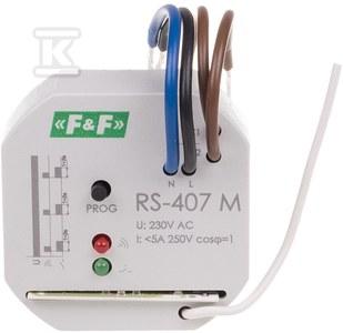 Przekaźnik sterowania radiowego RS-407 M odbiornik monostabilny, 230V 5A,, montaż w puszce fi 60