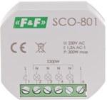 """Ściemniacz oświetlenia SCO-801 """"bez pamięci"""" ustawień natężenia oświetlenia, 350W, montaż w puszce fi 60"""