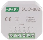 """Ściemniacz oświetlenia SCO-802 """"z pamięcią"""" ustawień natężenia oświetlenia, 350W, montaż w puszce fi 60"""