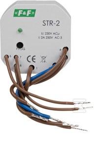 Sterownik rolet STR-2 jednoprzyciskowy, Un=230V AC, 8A, montaż w puszce podtynkowej fi 60
