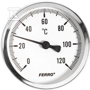 """Termometr 100 mm 1/2"""" axialny 0-120°C"""
